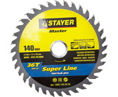 "Диск пильный STAYER ""MASTER"" ""SUPER-Line"" по дереву, 140x20мм, 36T 3682-140-20-36"